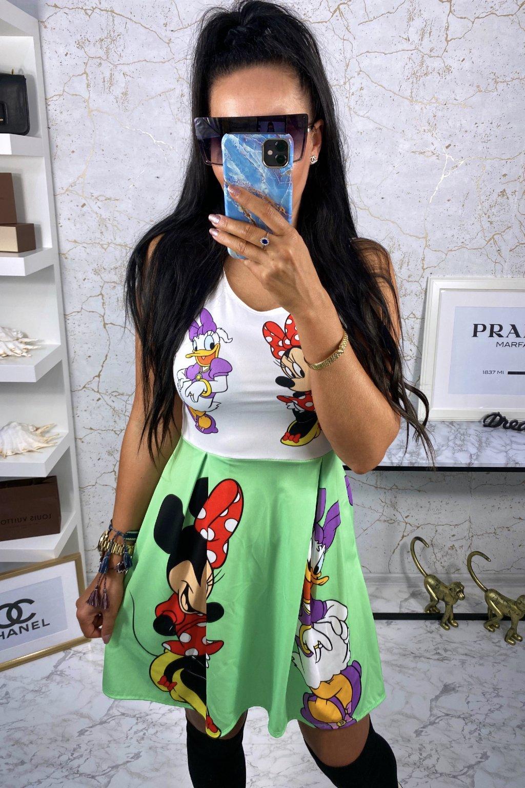 TOP šaty Disney - Zelené