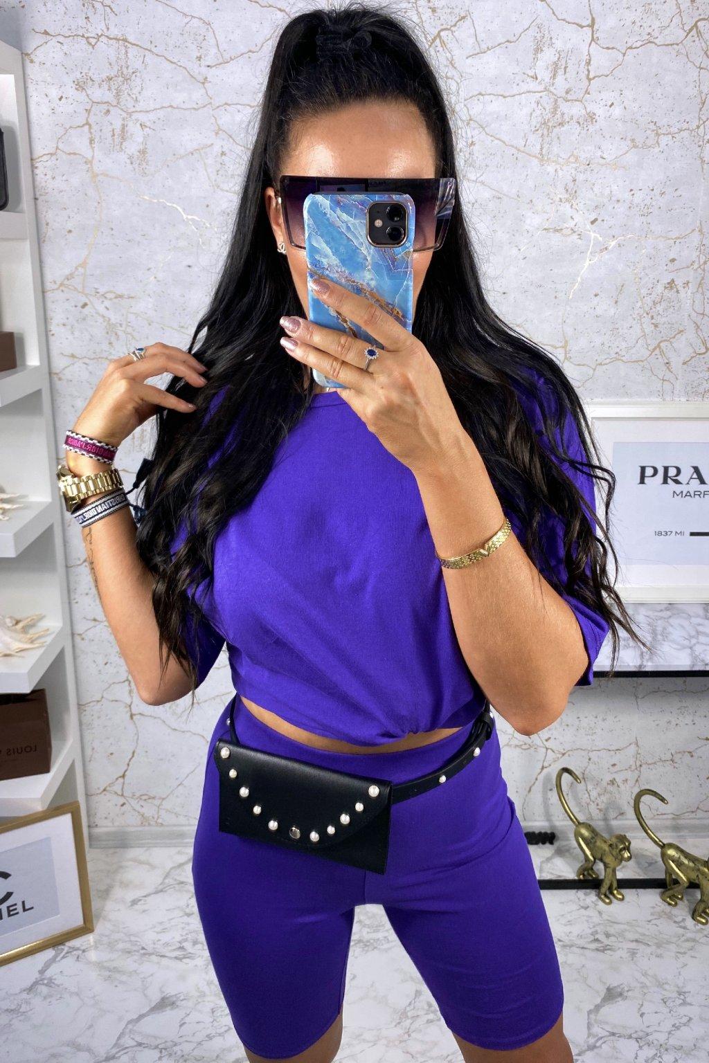 Stylový violet komplet - Crystal