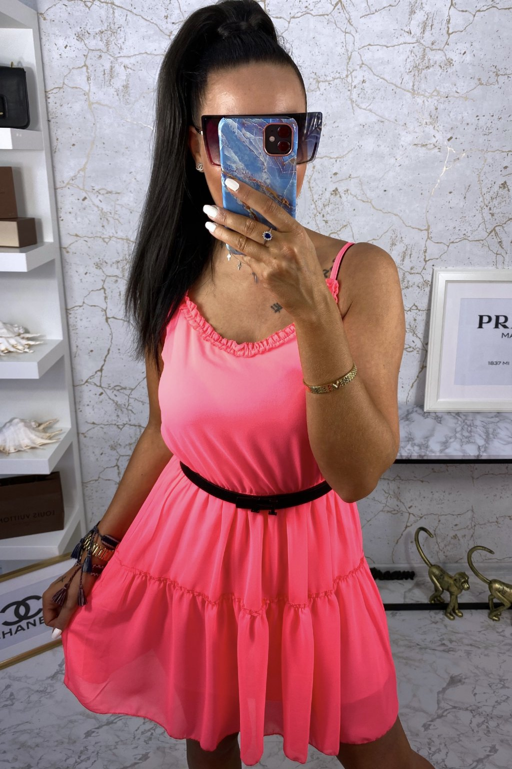 Růžové šaty - Olivia