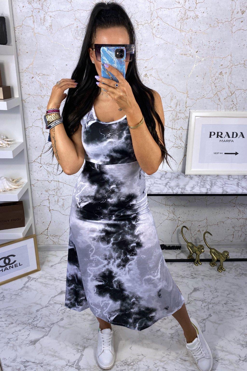 MAXI šaty Black Batik