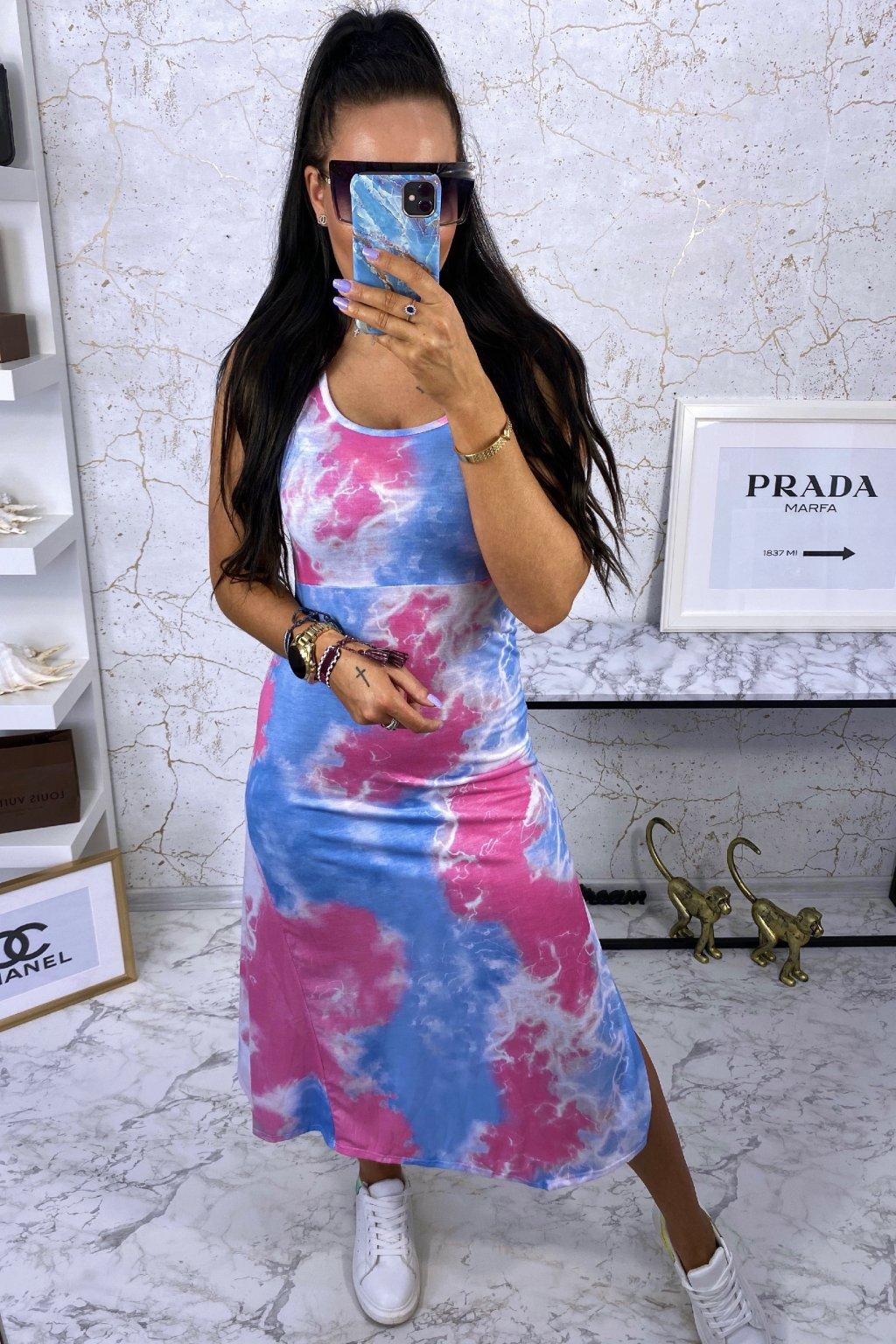 MAXI šaty Pink Batik