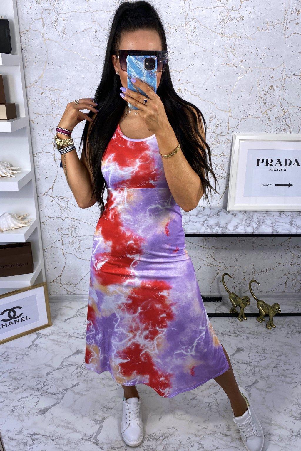 MAXI šaty Violet Batik