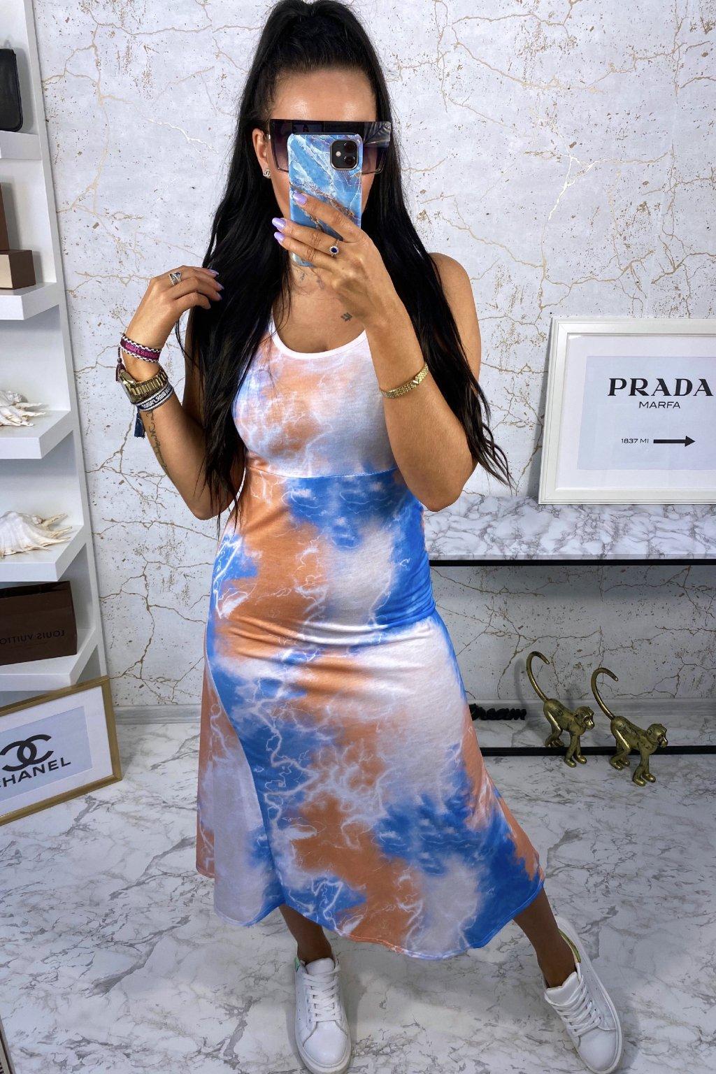 MAXI šaty Orange Batik