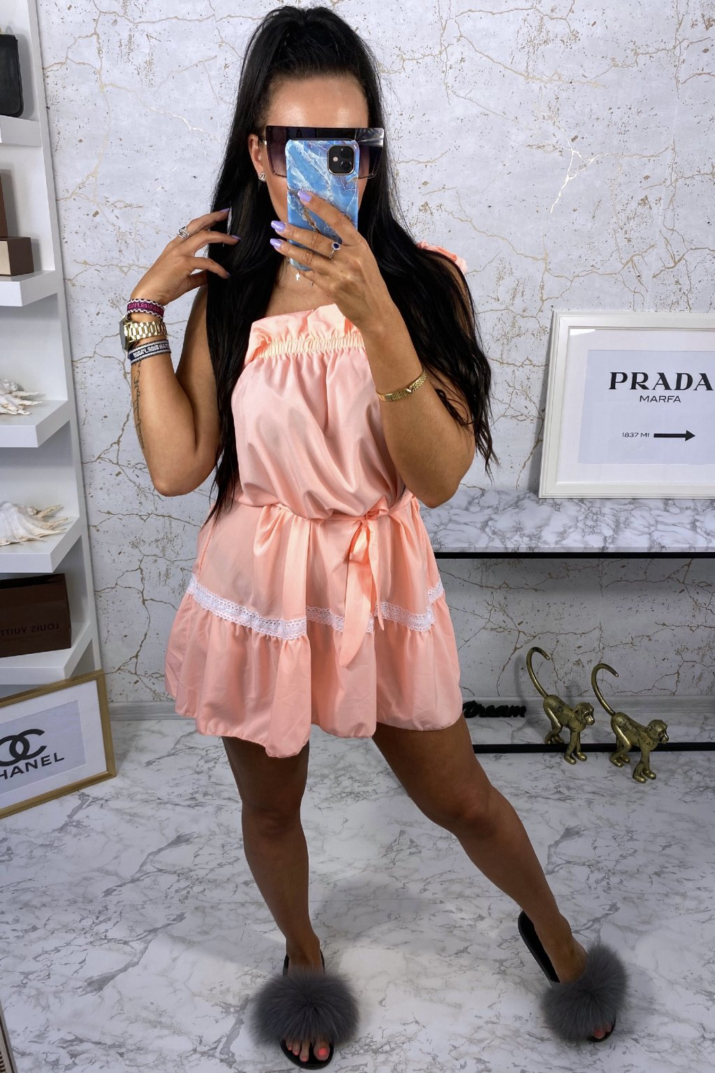 Meruňkové šaty Ariana