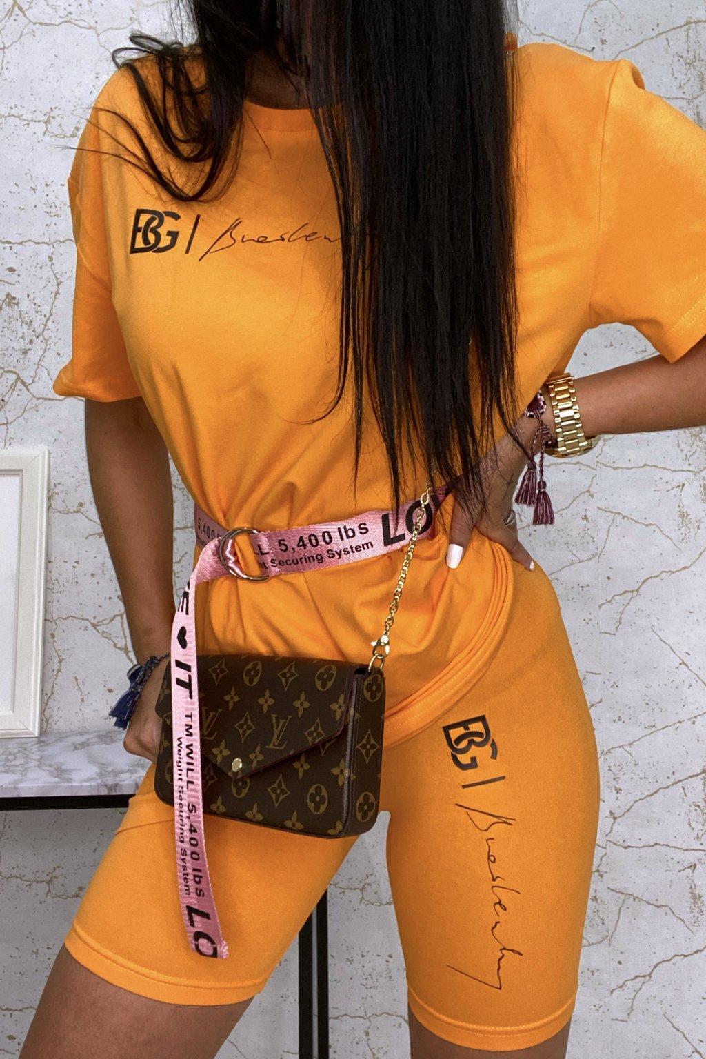 TOP oranžový komplet BG