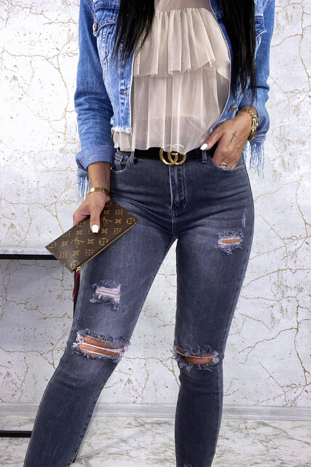 Super šedé džíny