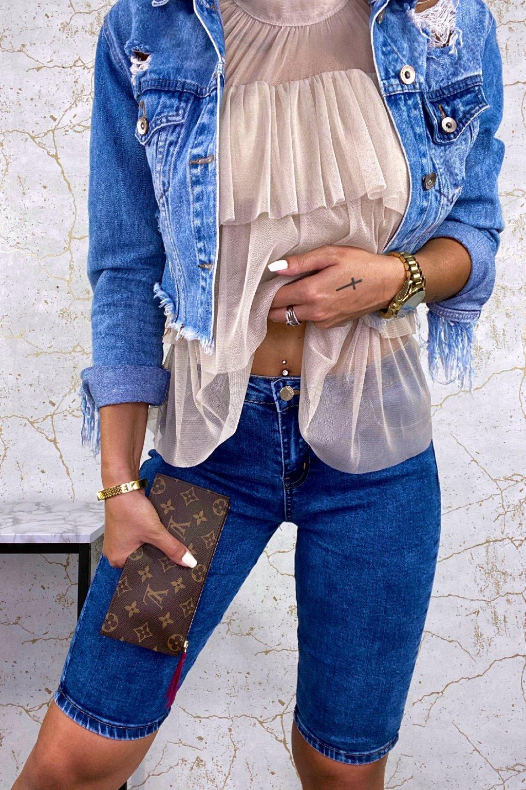 Modré Shorts džíny