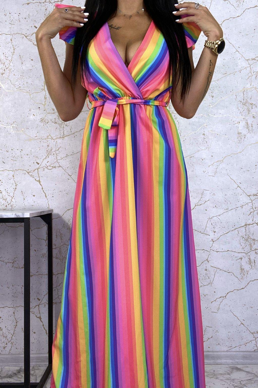 Dokonalé MAXI šaty Rainbow