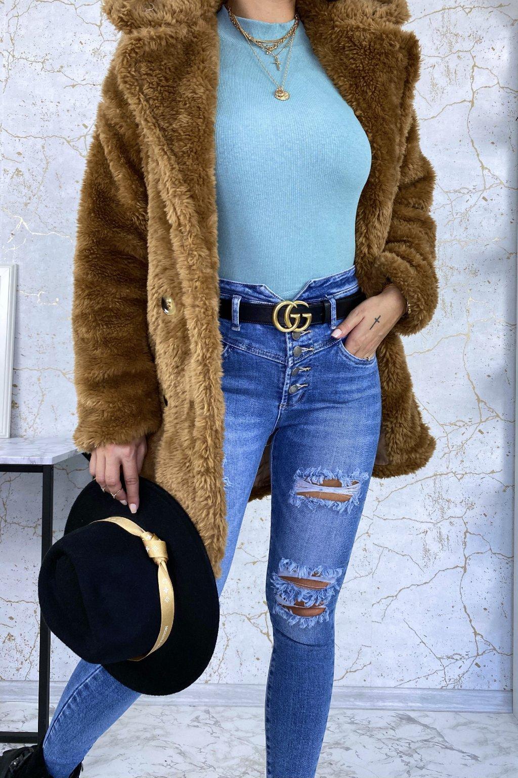 Kabát Teddy - camel
