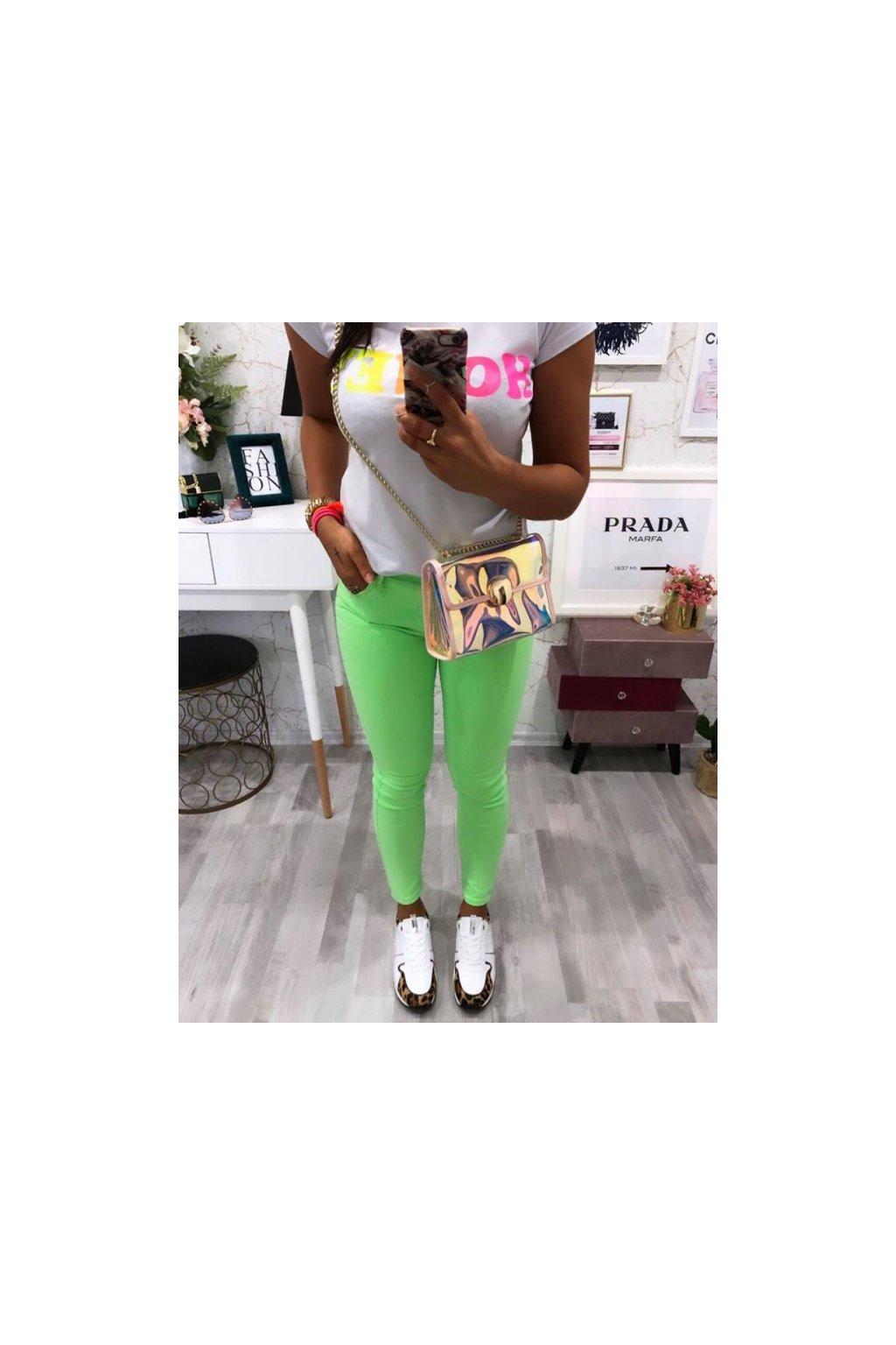 Slimfit jeans neon green