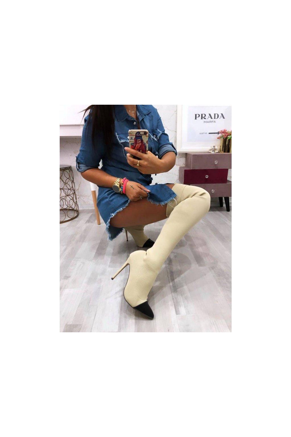 Ponožkové kozačky nad kolena