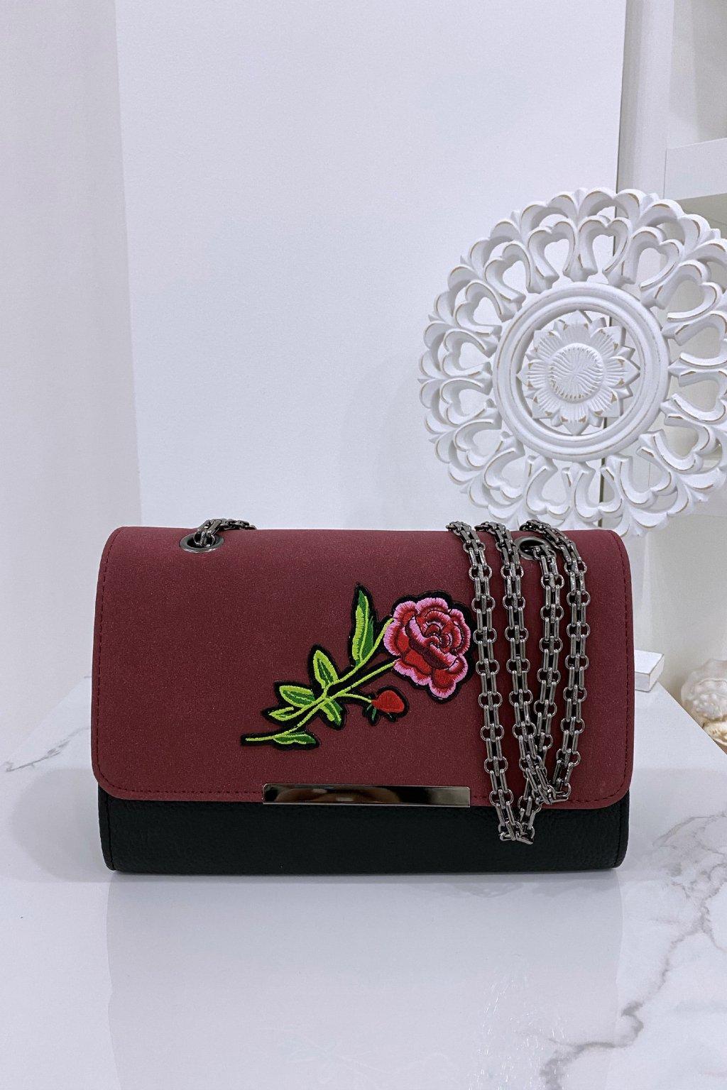 Bordo kabelka - Rose