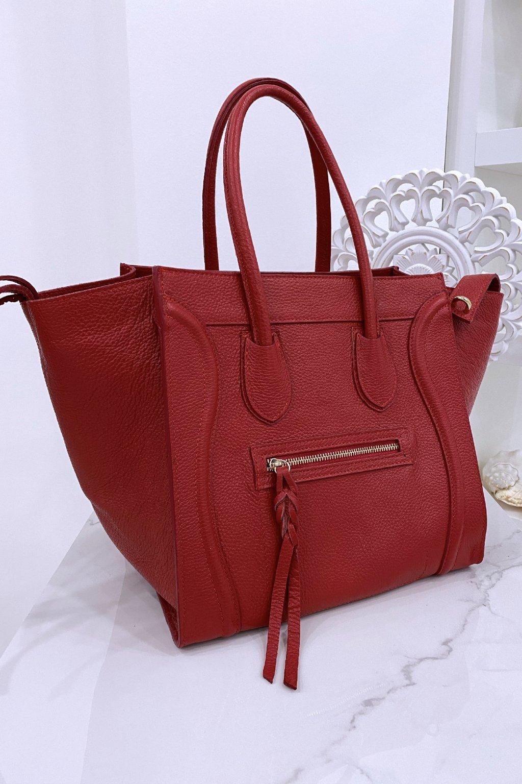 Kožená červená kabelka - Celine