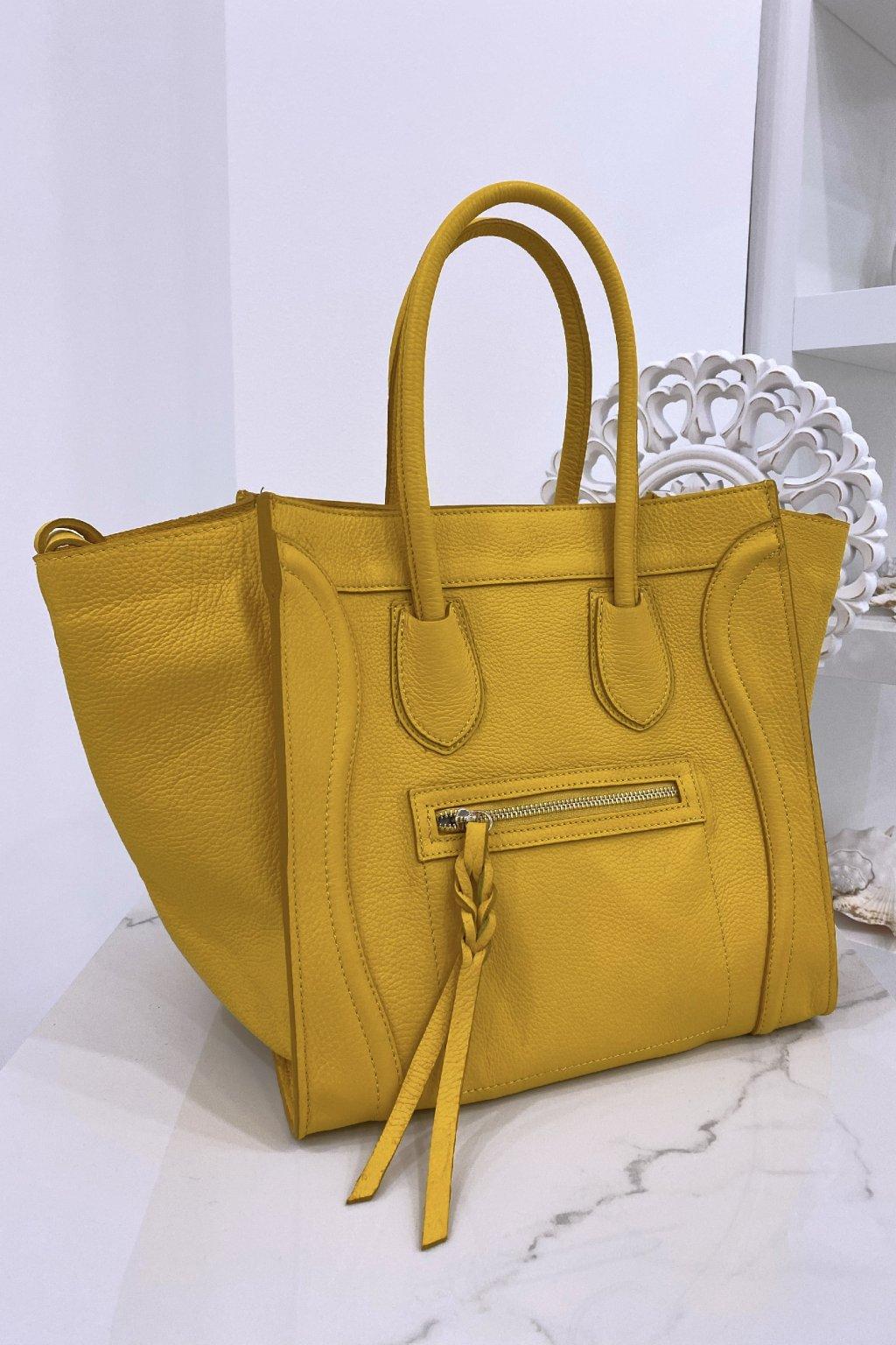 Kožená žlutá kabelka - Celine