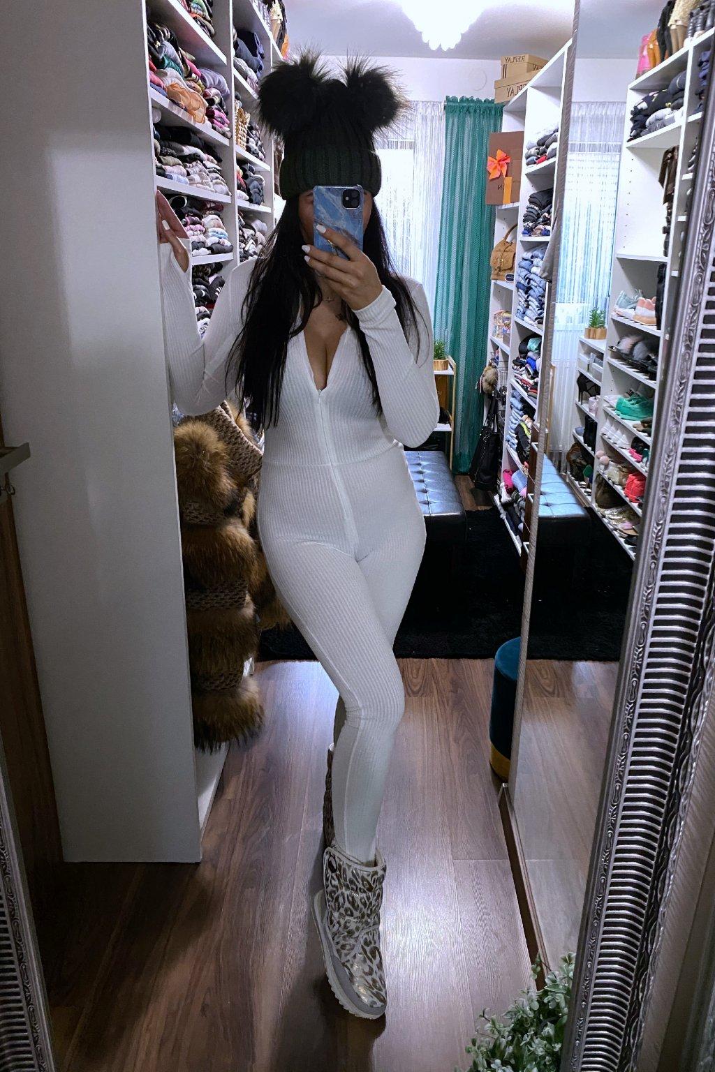 Basic kombinéza - Kim white