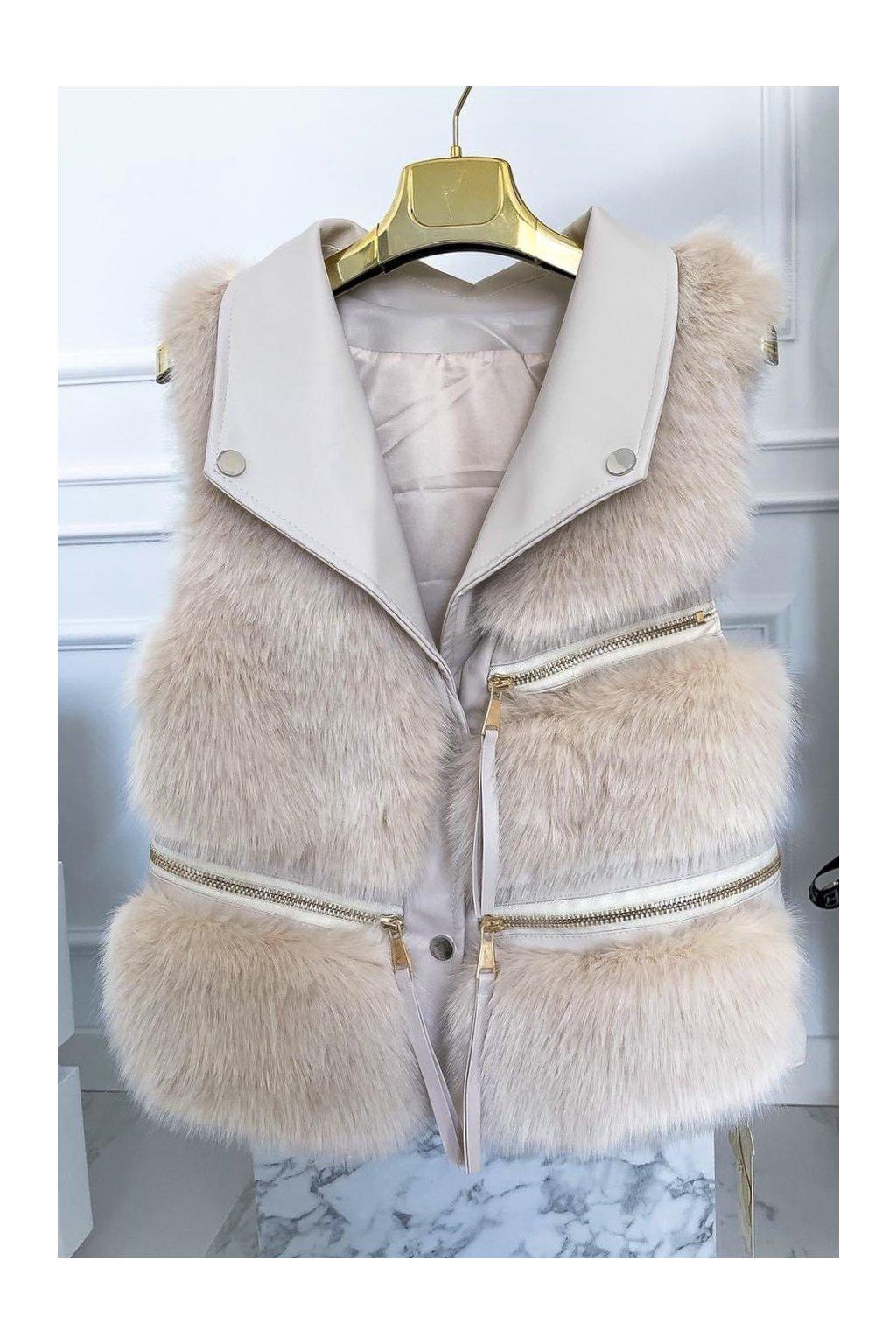 Béžová natur vesta - Luxury Style