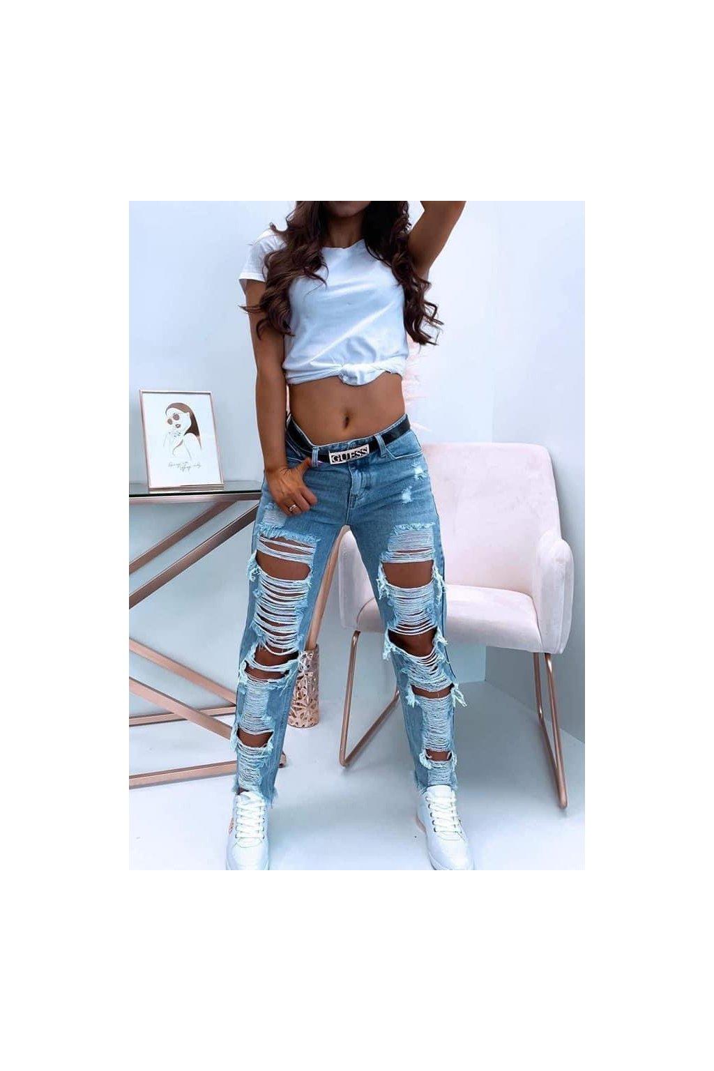 Trhané džíny La mode