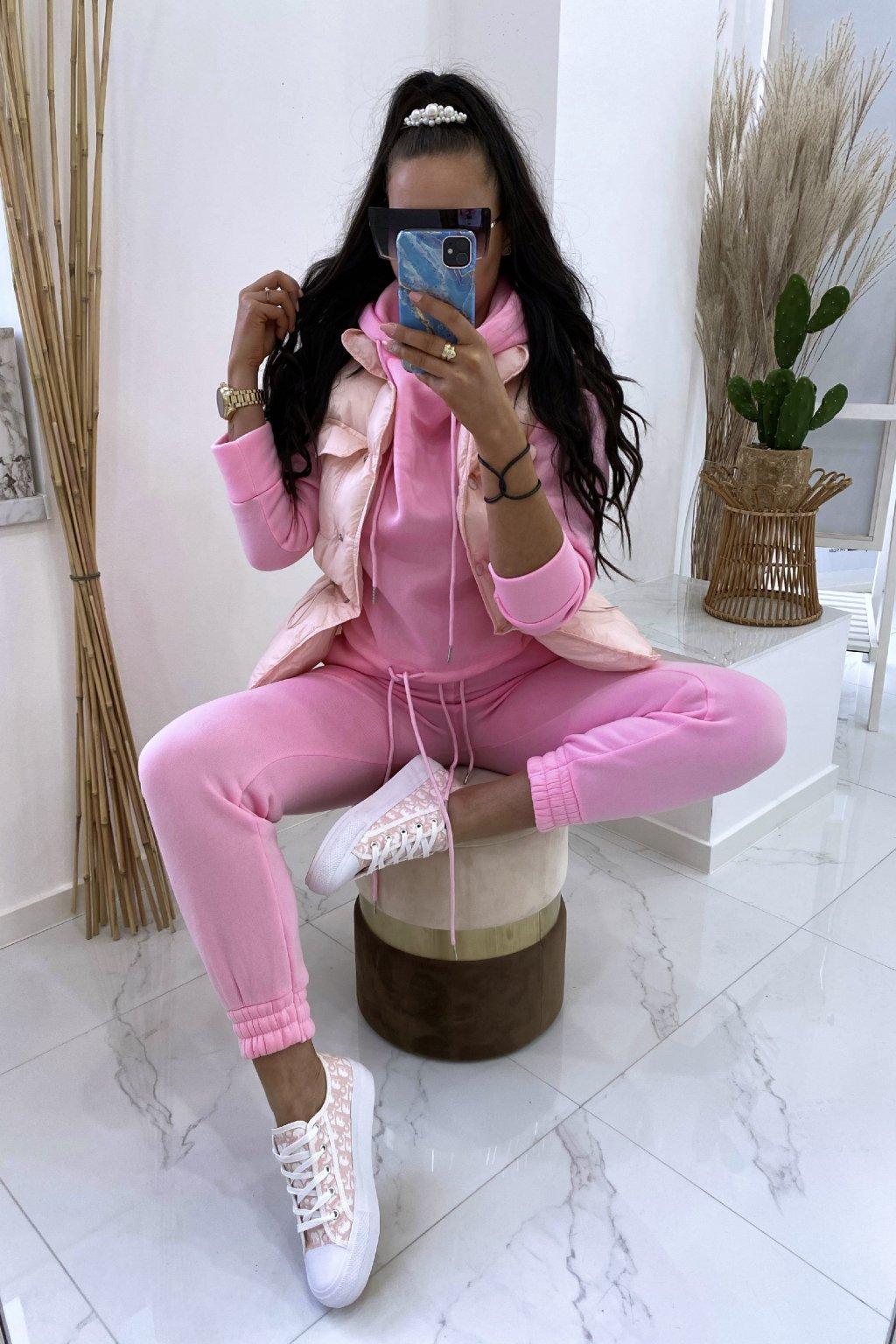 Růžová vesta - Bianca