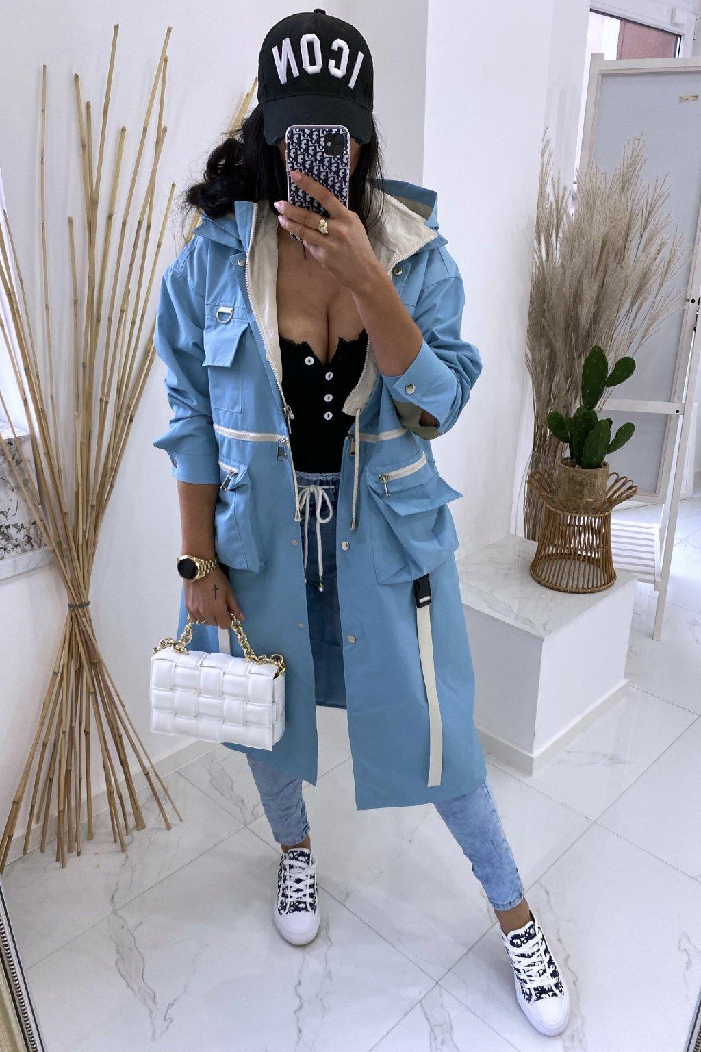 Modrý kabát 2v1 - Duo Heriss