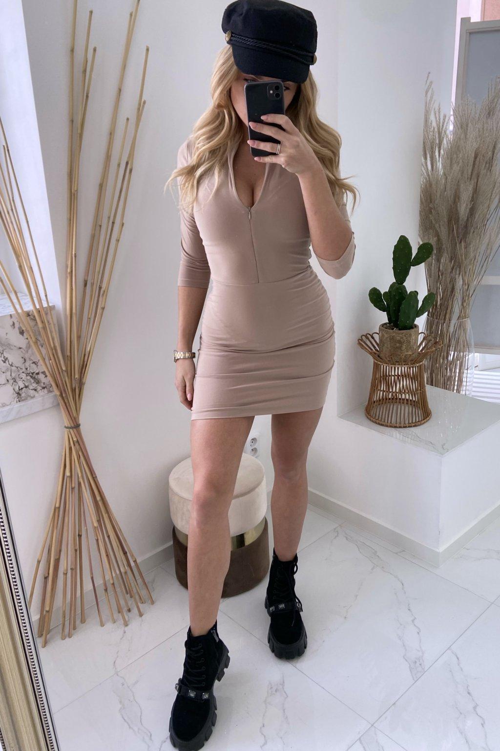 Slim šaty - LaMia/Beige