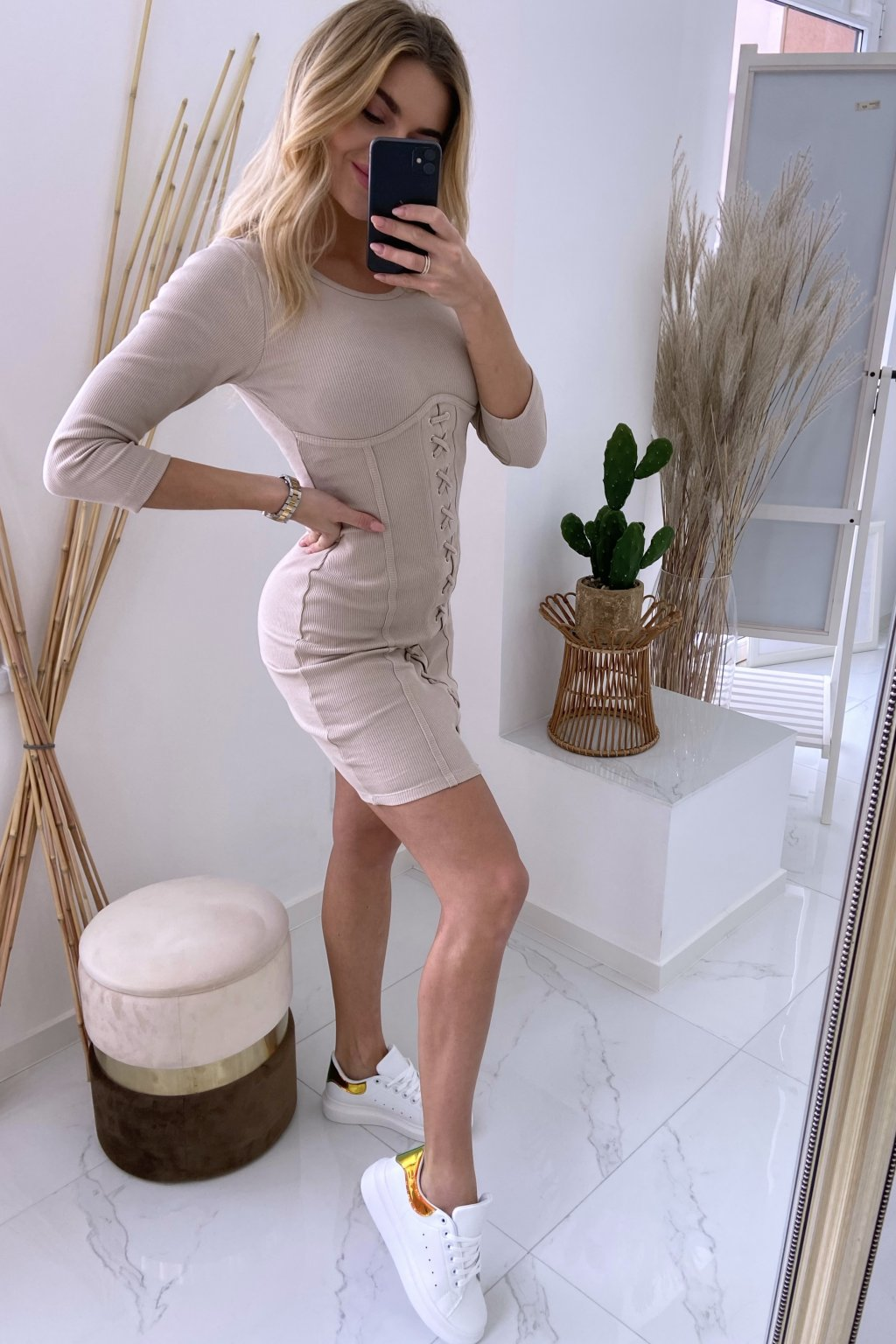 Basic šaty - LaVu/Beige