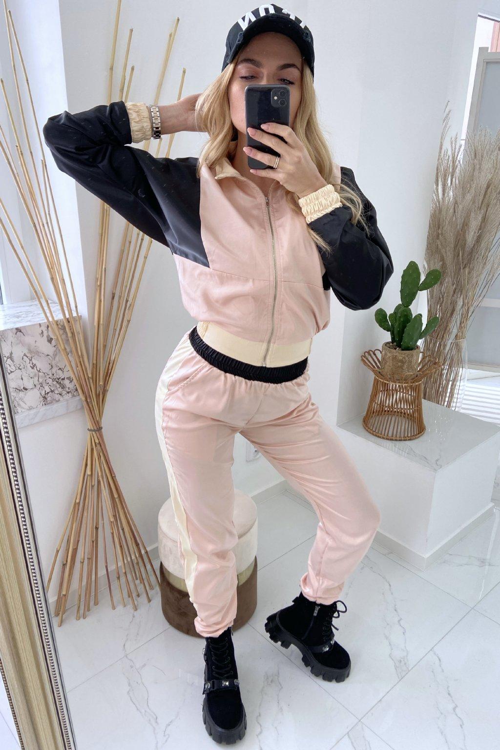 Saténový komplet - Couture/Pink