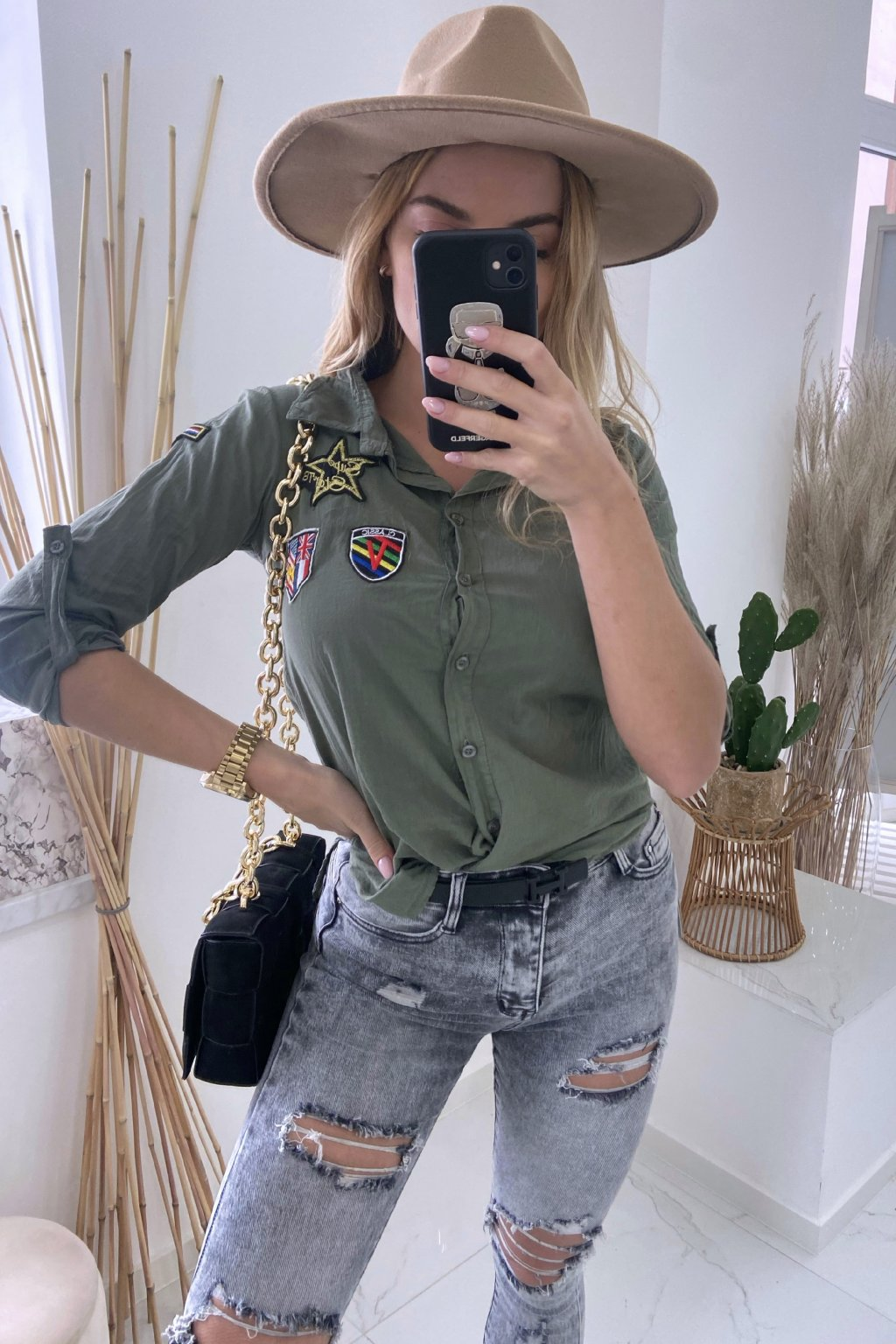 Khaki košile - Army Style