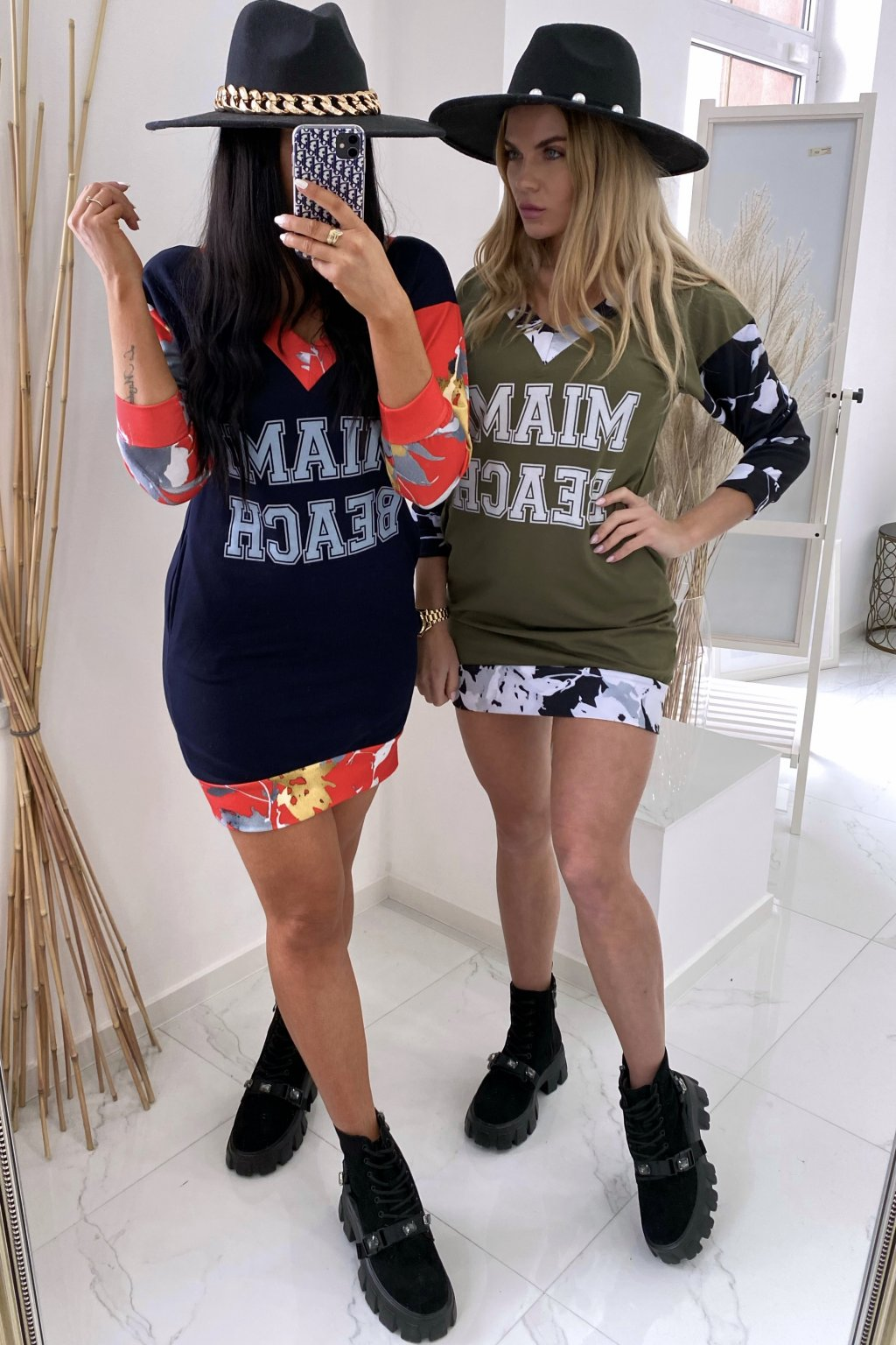 Mikinové šaty - MIAMI/Khaki