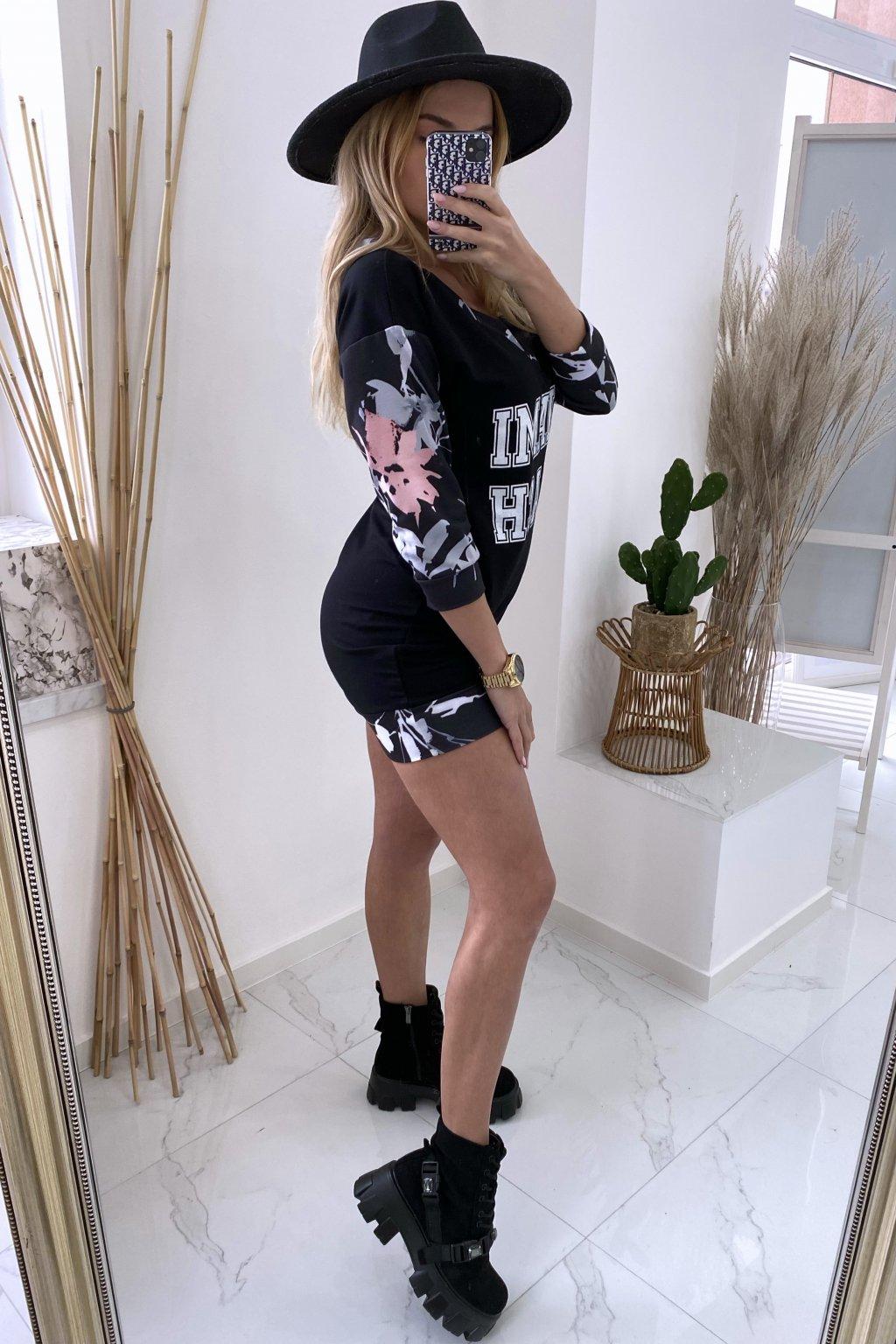 Mikinové šaty - MIAMI/Black