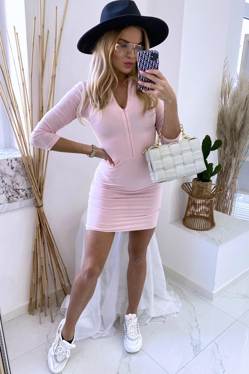 Slim šaty - LaMia/Pink