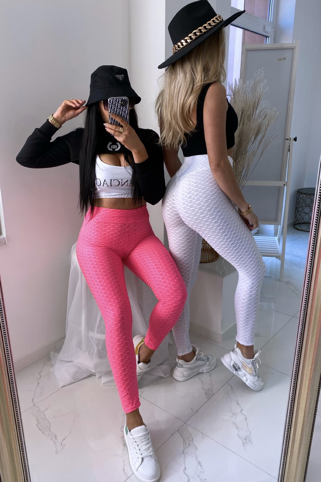 Push up legíny -Pink
