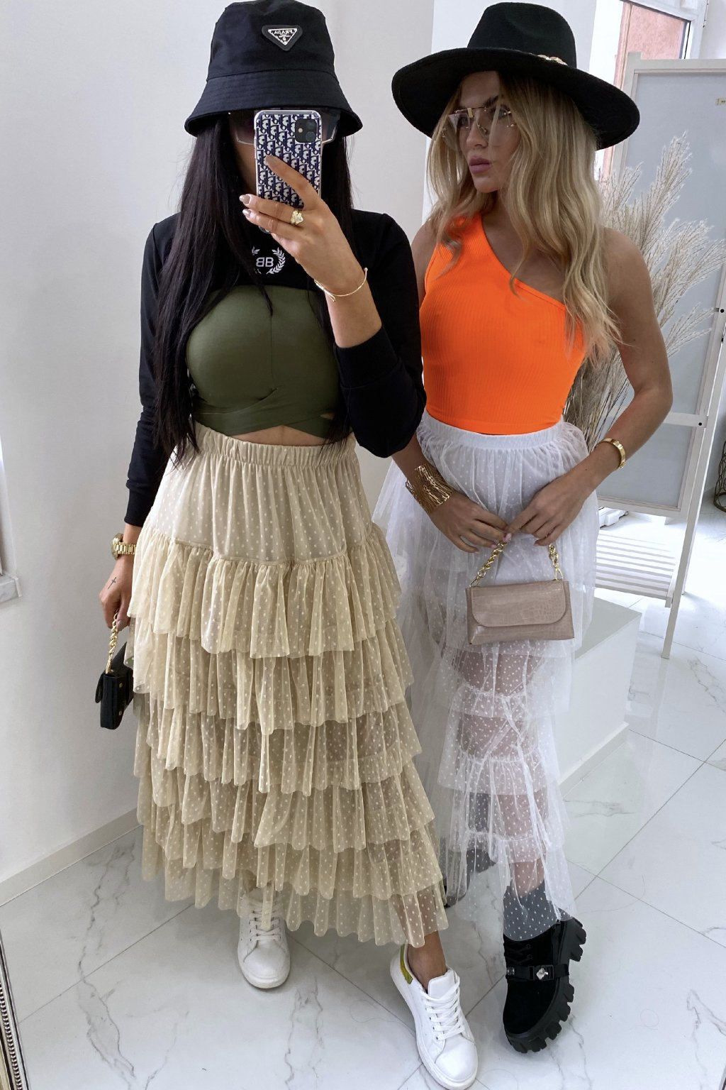 Týlová sukně Lastrada/Beige
