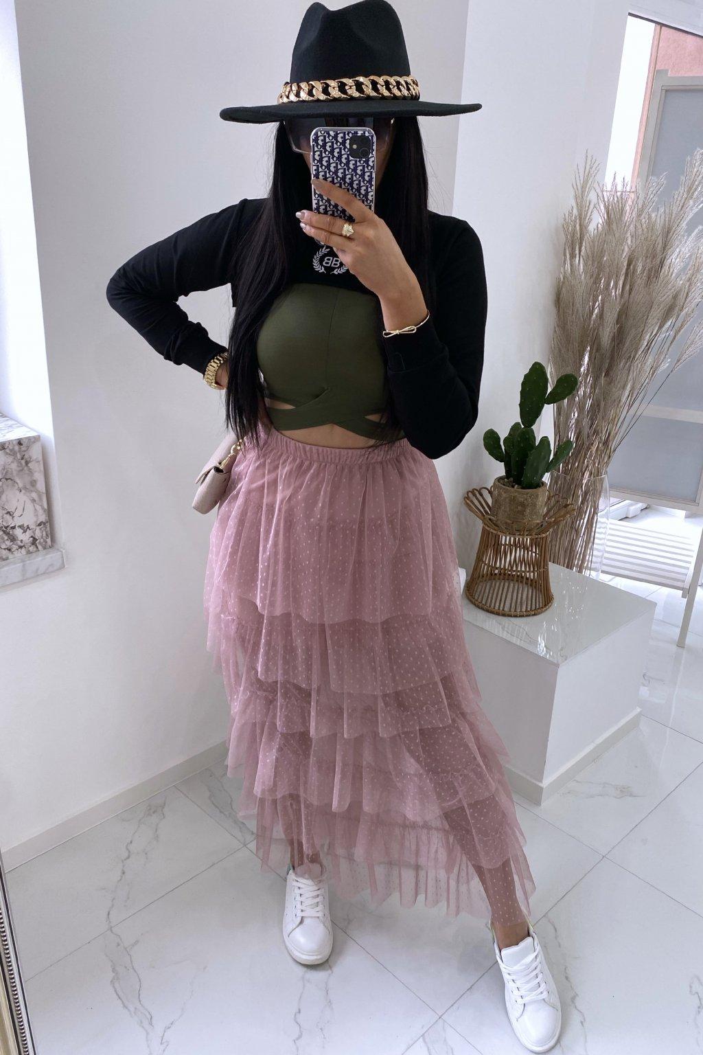 Týlová sukně Lastrada/Pink