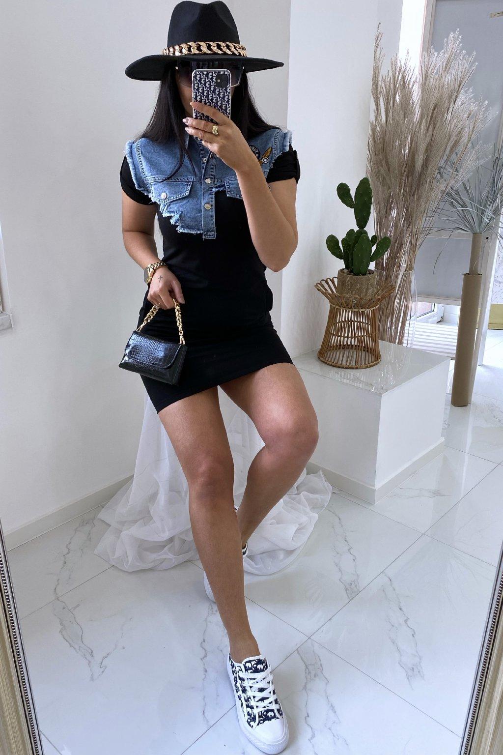Šaty Denim Chic/Black