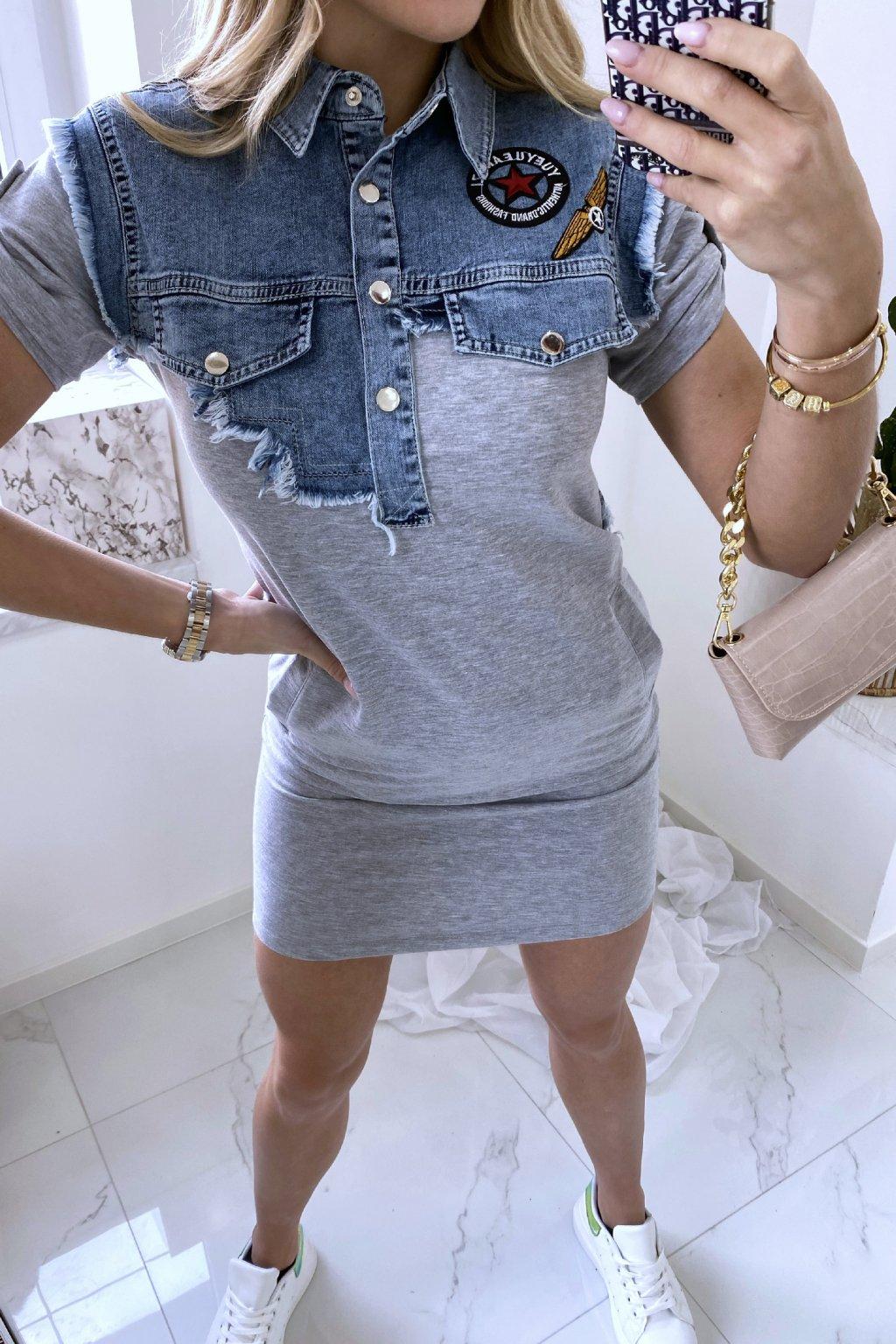 Šaty Denim Chic/Grey