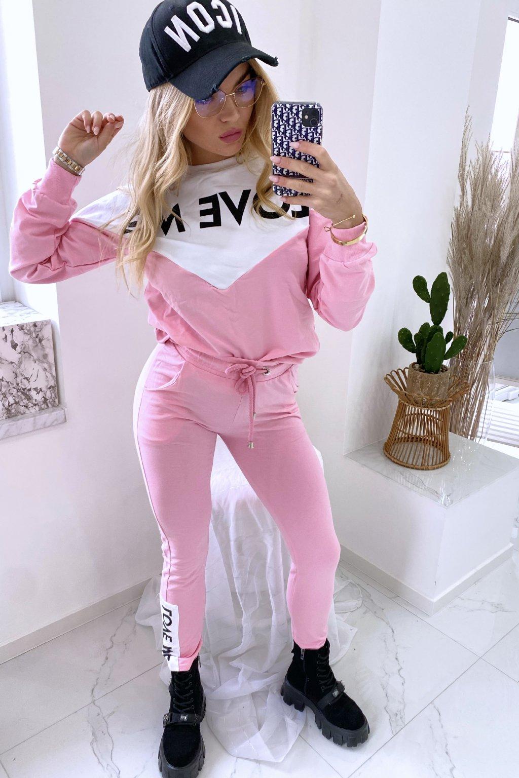 Tepláková souprava Love Me/Pink