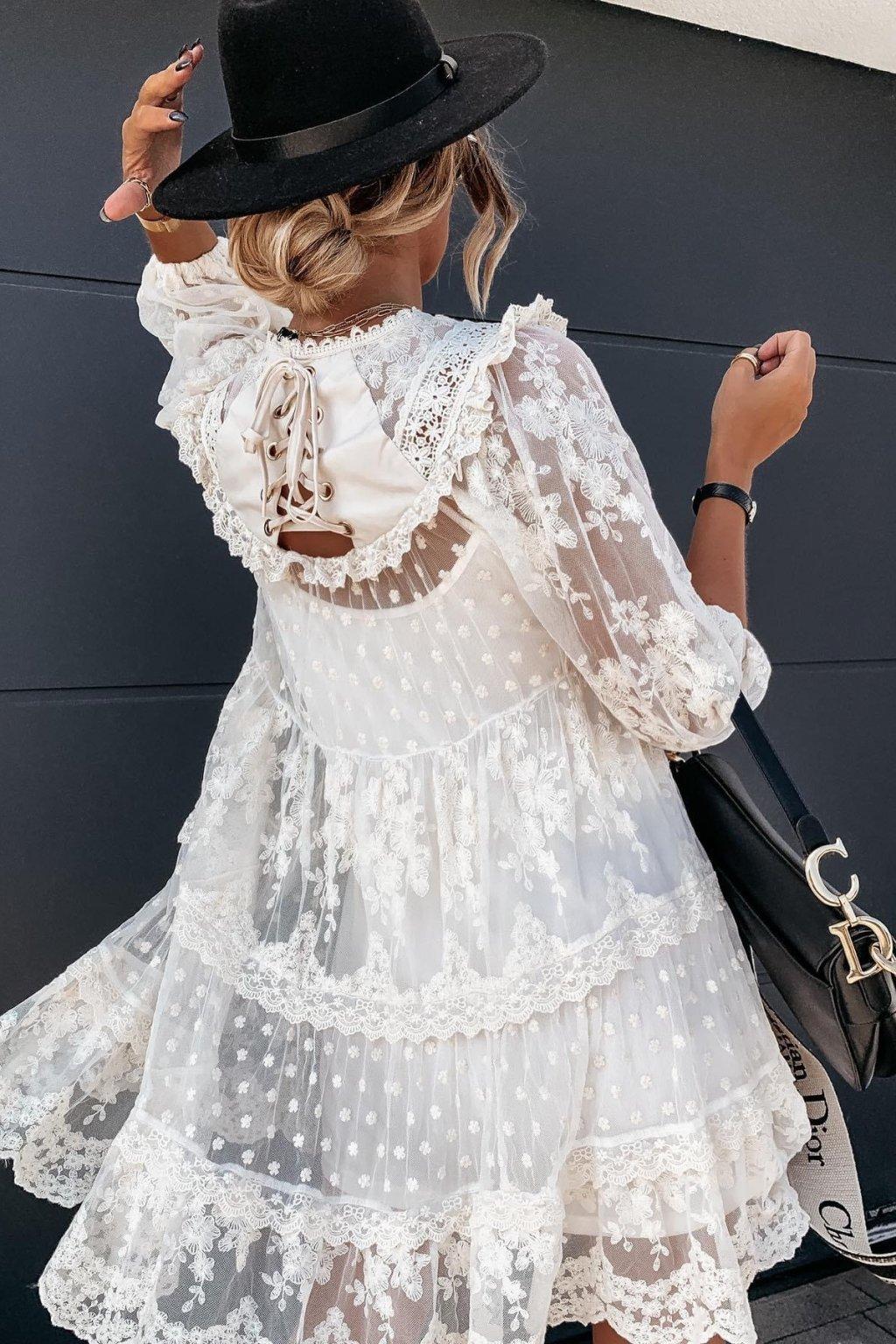 Krajkové šaty Pralina