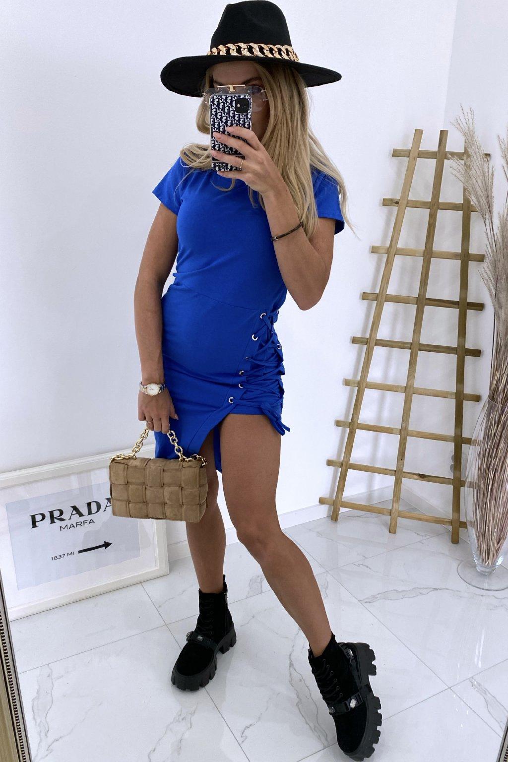 Šaty na šněrování Merita/Blue