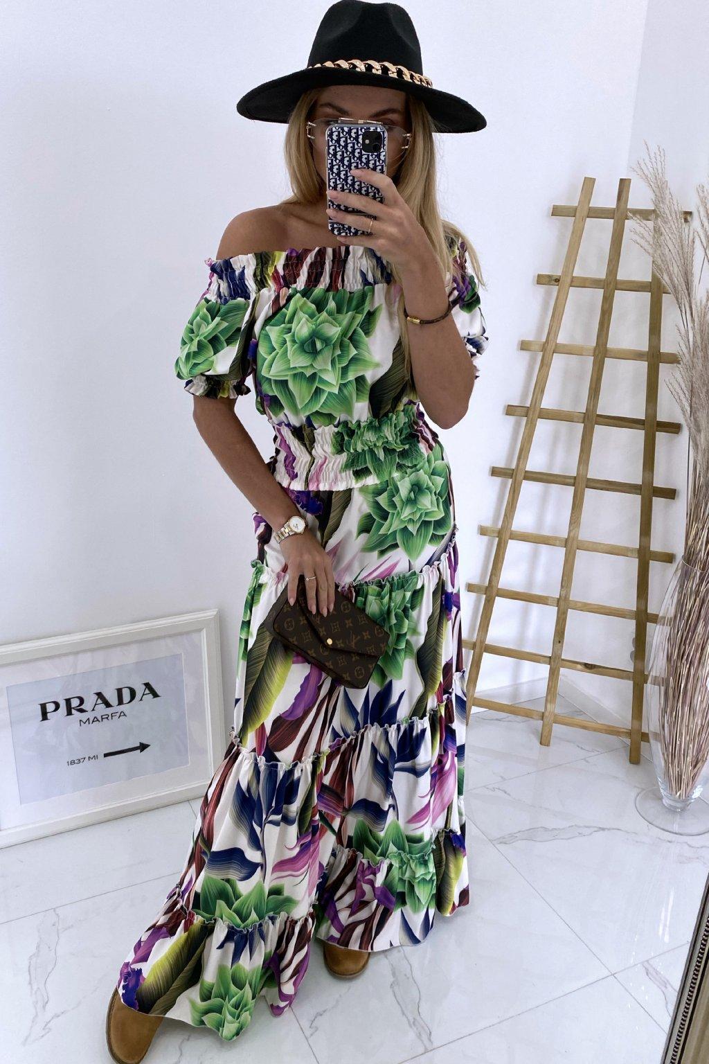 Maxi šaty Botanical