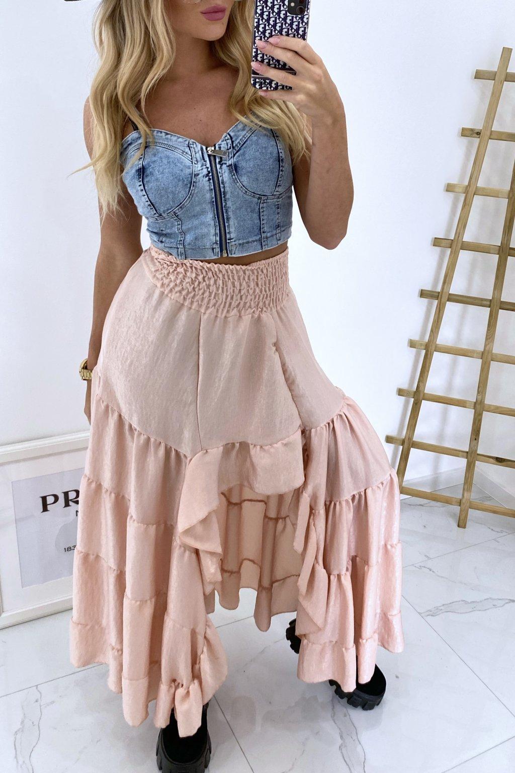 Maxi sukně Salem/Pink