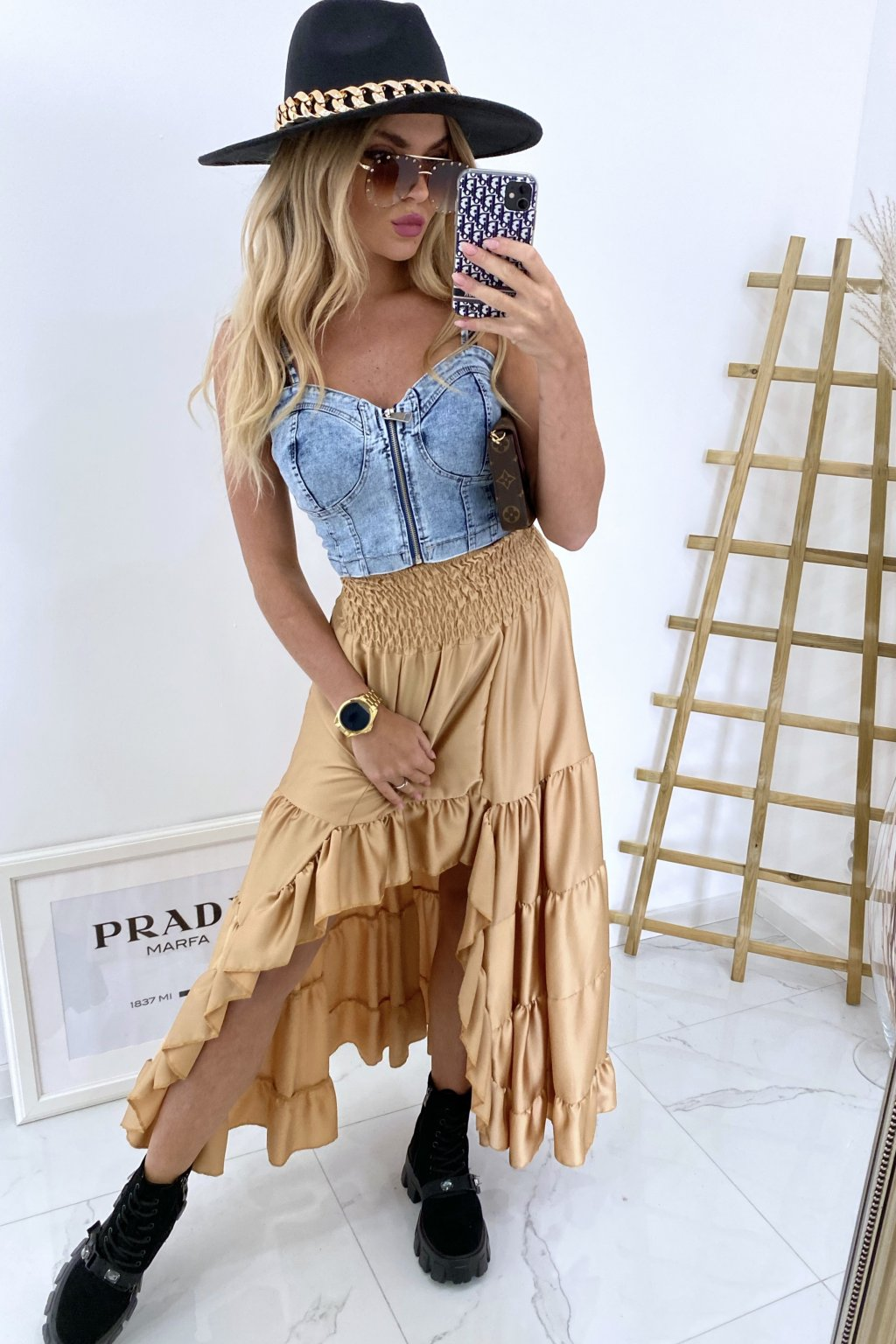 Maxi sukně Salem/Gold