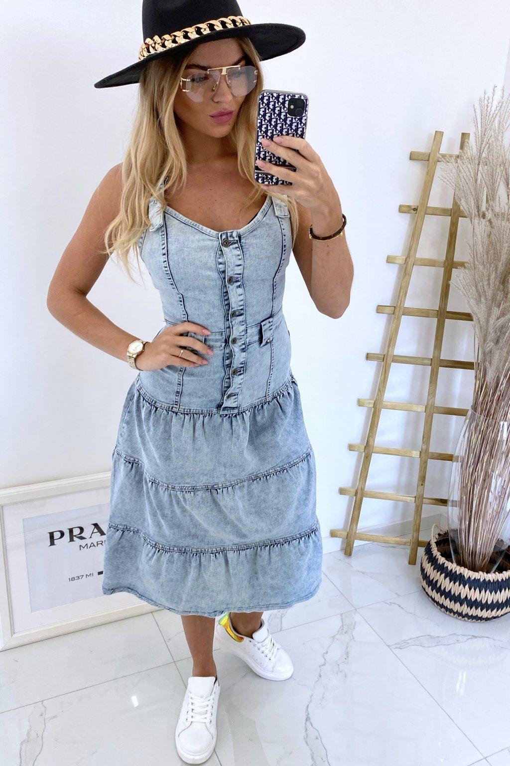 Džínové šaty Megan