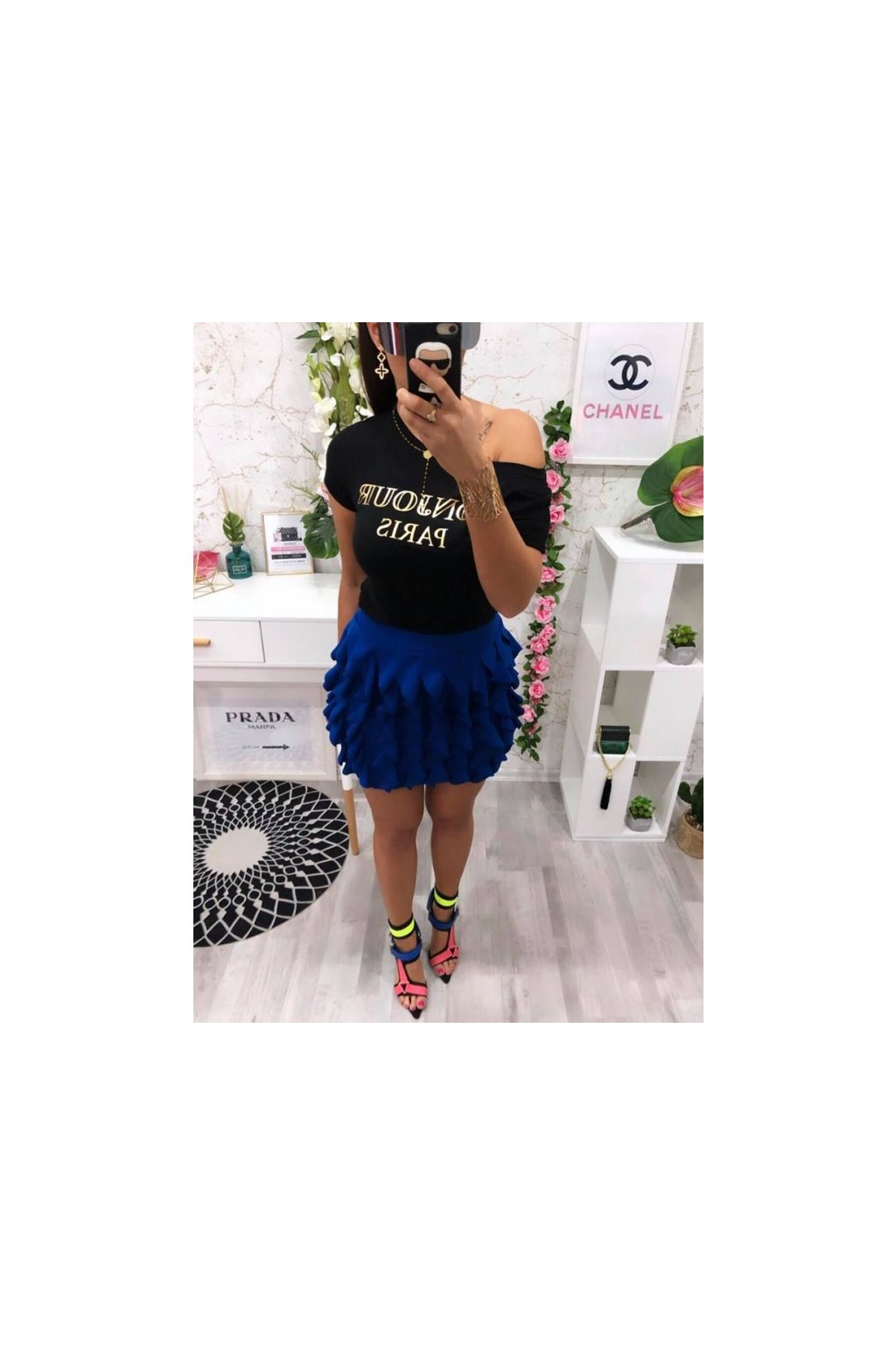 Modrá sukně