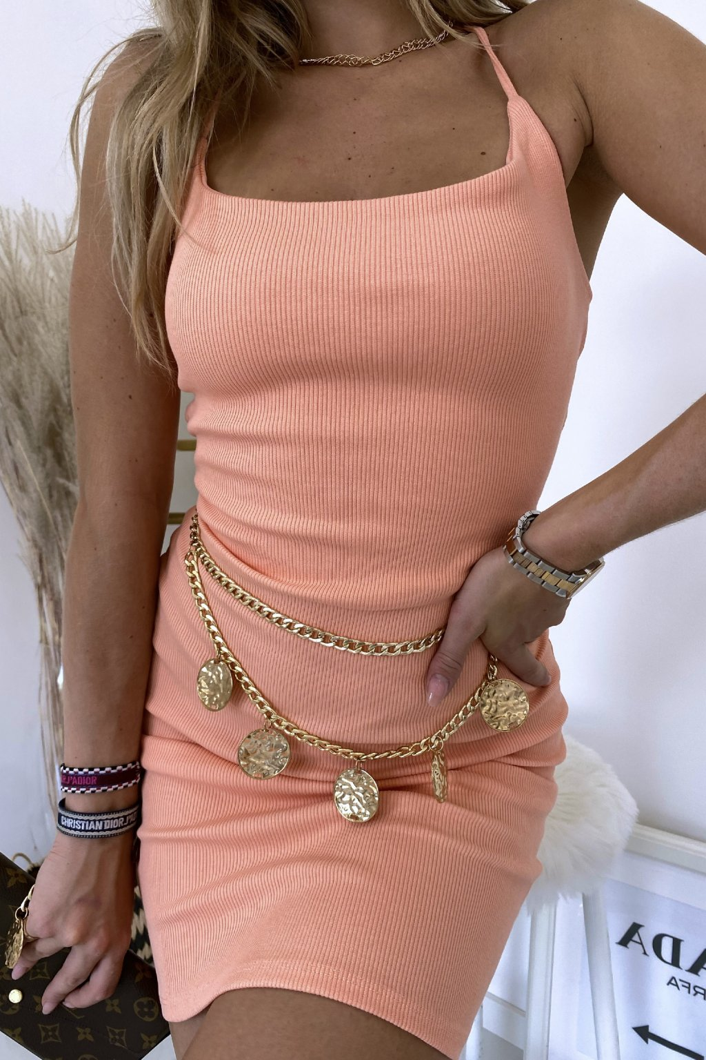 Sexy šaty Glam/Peach