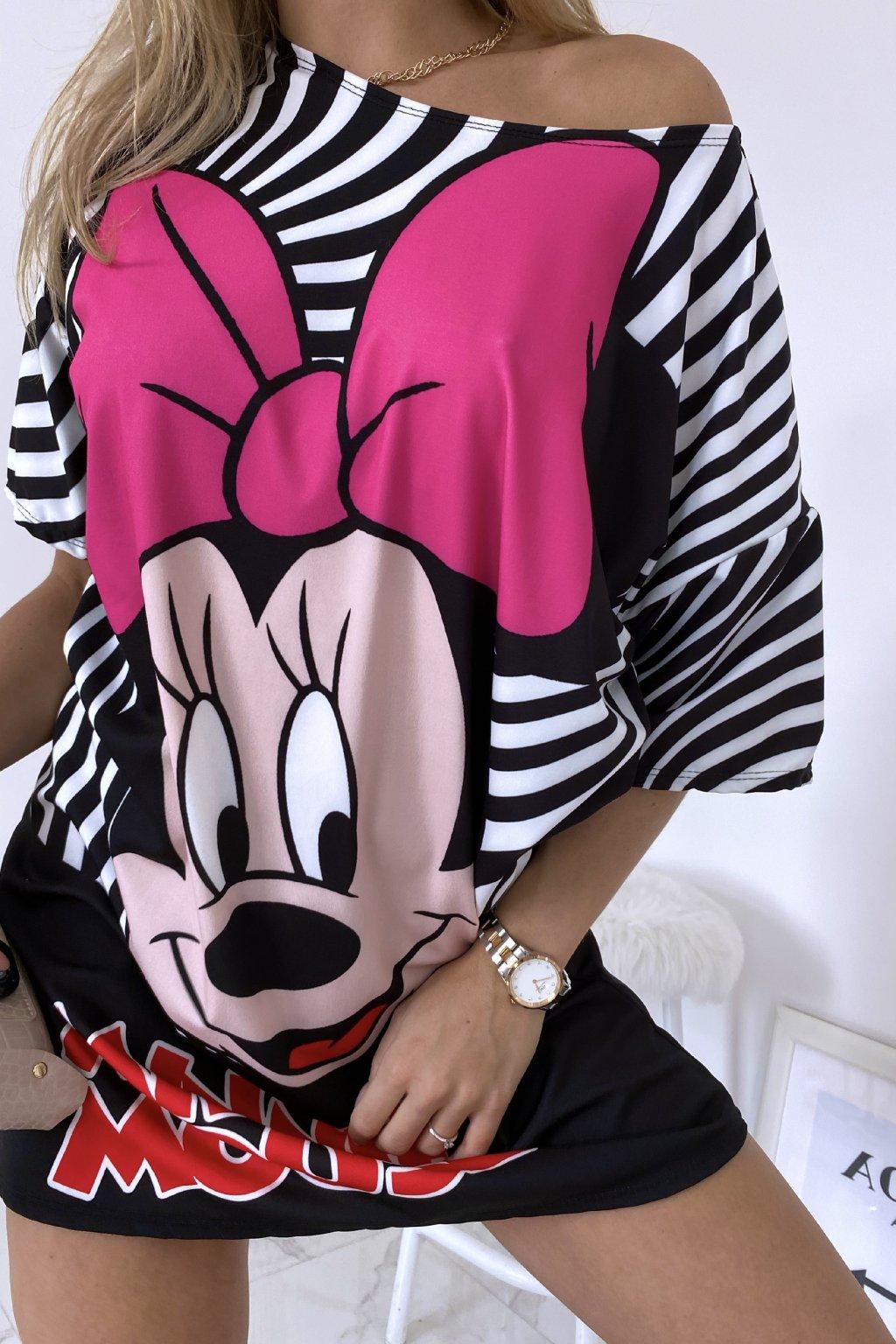 Oversize šaty Minnie Mouse