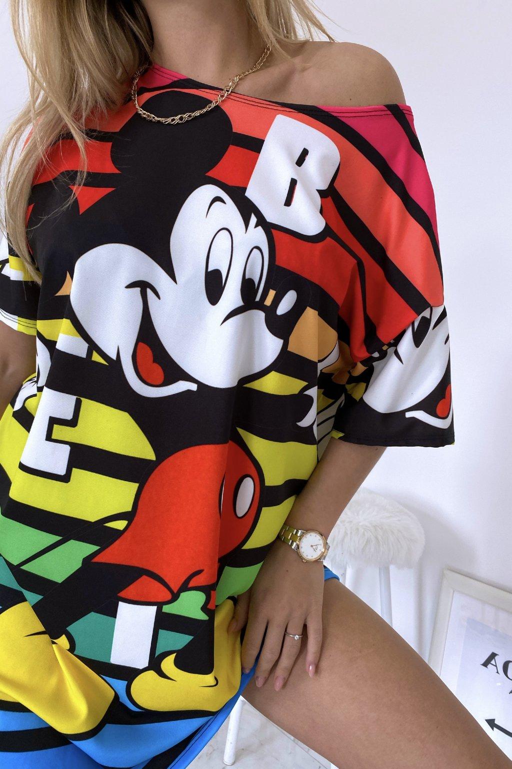 Oversize šaty Funny Mickey