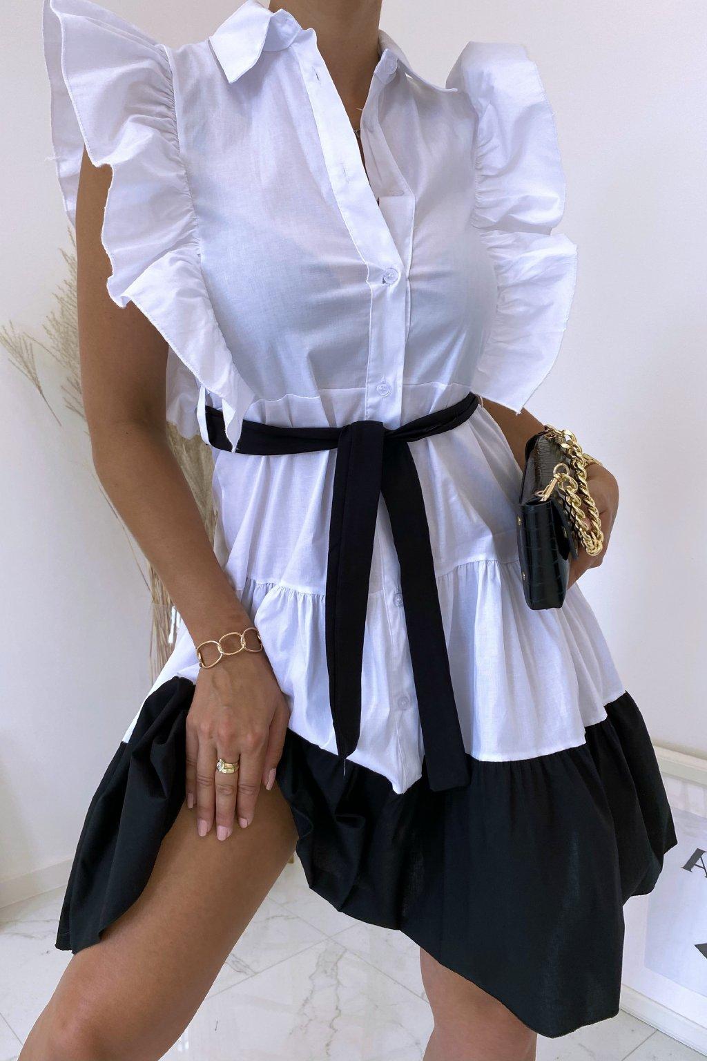 Bílé košilové šaty Perfectly