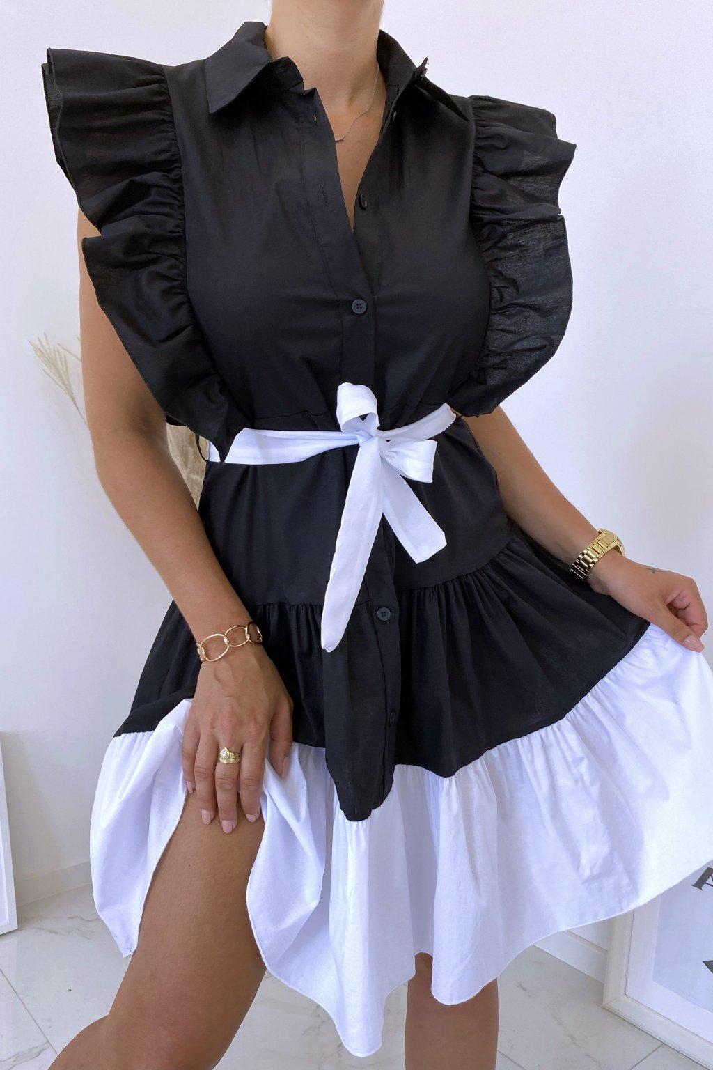 Černé košilové šaty Perfectly