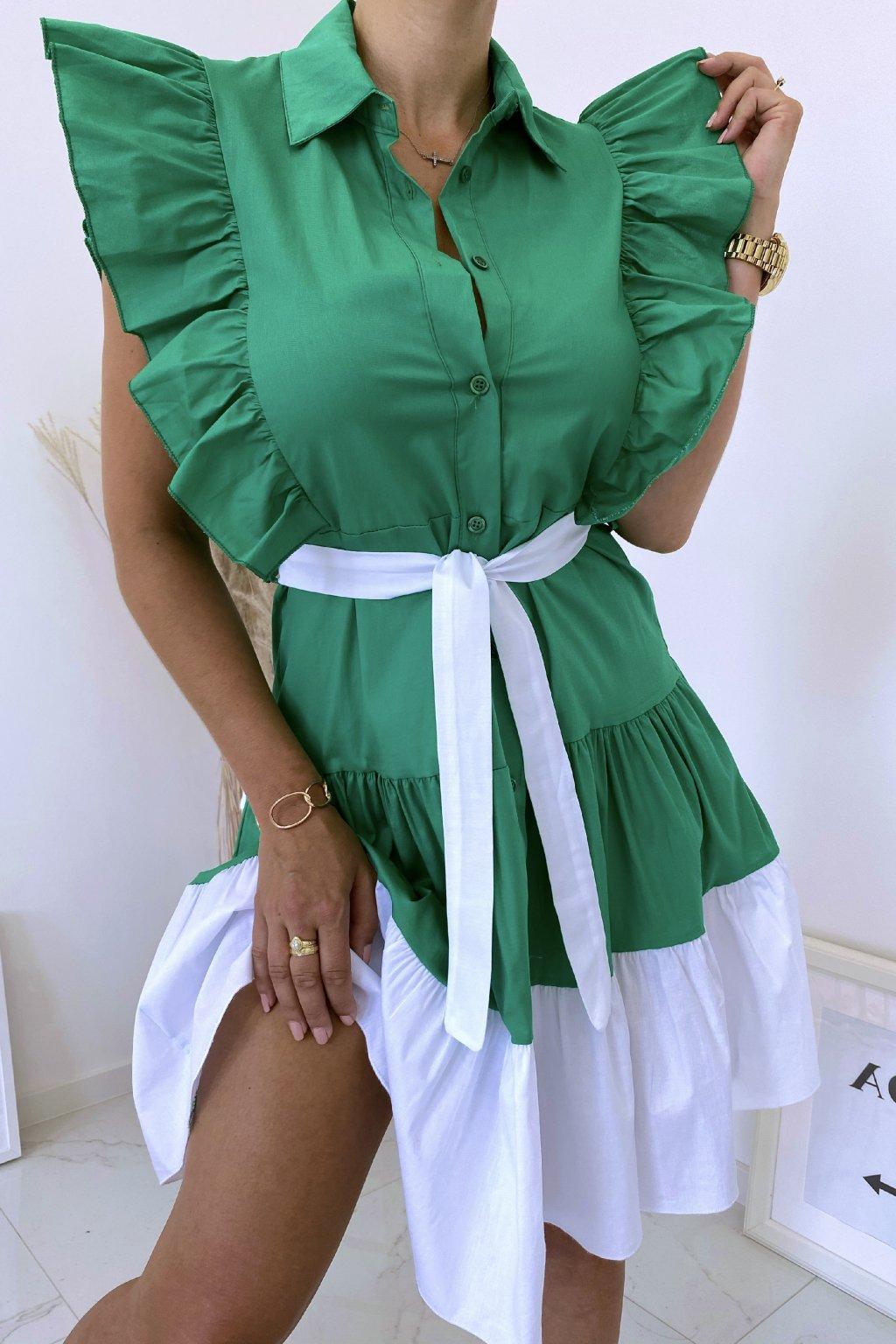 Zelené košilové šaty Perfectly