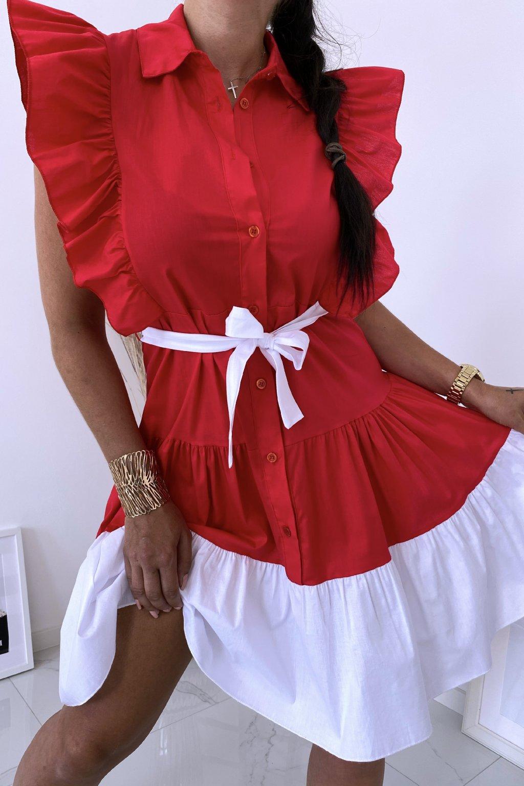 Červené košilové šaty Perfectly